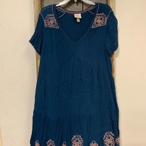 Embroidered boho style dress